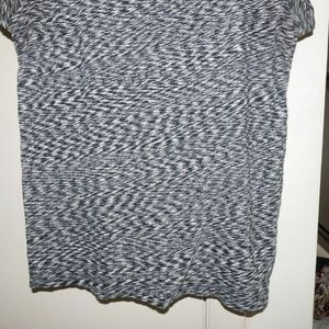 J. Crew Tops - J.CREW Space-Dye Tee T-shirt Small 4 6 Black/White